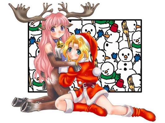 New Year, Christmas anime art 37 New Year Christmas anime art