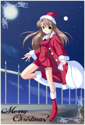 New Year, Christmas anime art 47 New Year Christmas anime art