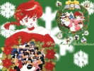 New Year, Christmas anime art 38 New Year Christmas anime art