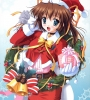 New Year, Christmas anime art 39 New Year Christmas anime art