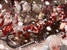 New Year, Christmas anime art 41 New Year Christmas anime art