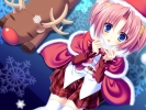 New Year, Christmas anime art 44 New Year Christmas anime art