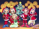 New Year, Christmas anime art 45 New Year Christmas anime art