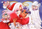 New Year, Christmas anime art 46 New Year Christmas anime art
