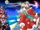 New Year, Christmas anime art 52 New Year Christmas anime art