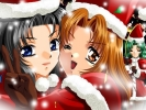 New Year, Christmas anime art 53 New Year Christmas anime art