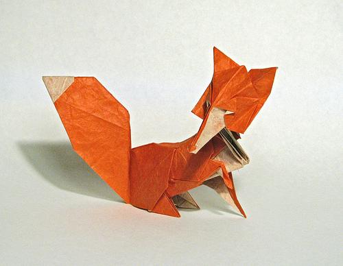Оригами Лиса от Roman Diaz.  В статье предложена схема сборки Оригами лисы.  Работы этого автора оригинальные и...