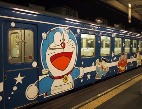 Поезд с Дораэмоном, туннель Сейкан, линия Таппи Сяко, Хоккайдо