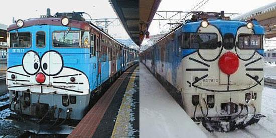 Ещё поезда с Дораэмоном в Хоккайдо