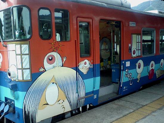Поезд с Китаро, линия Тоттори, префектура Тоттори