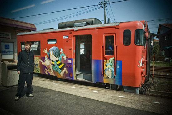 поезд с Китаро, линия Тоттори