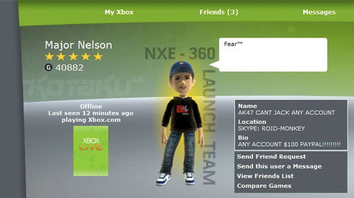 Хакер взломал директора Xbox Live